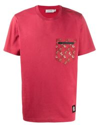 COACH Red Printed Pocket T-shirt for men