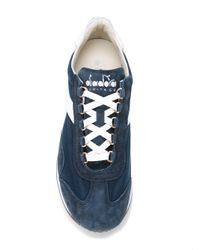 Diadora | Blue Equipe Stone Wash Sneakers for Men | Lyst
