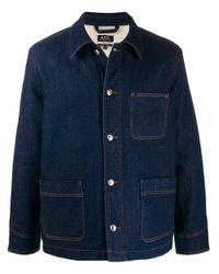 Veste en denim ample A.P.C. pour homme en coloris Blue