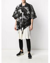 メンズ Homme Plissé Issey Miyake オーバーサイズ コート Black