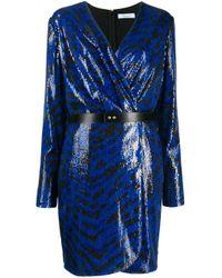 Blumarine スパンコール ラップドレス Blue