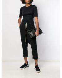 Rick Owens Drkshdw Black Drop Crotch Trousers