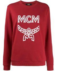 MCM Logo Group スウェットシャツ Red