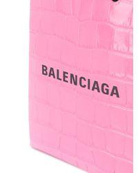 Balenciaga ショッピング フォン ホルダー Pink