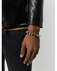 Saint Laurent - Brown Beaded Bracelet for Men - Lyst