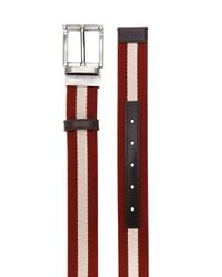 Bally Red Striped Belt for men