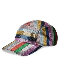 Maison Michel Metallic Nell Sequin-embellished Cap