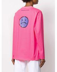 Natasha Zinko プリント ロングtシャツ Pink