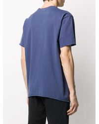 John Elliott Blue Solid-color T-shirt for men