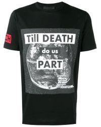 T-shirt à imprimé graphique John Richmond pour homme en coloris Black