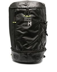 PUMA Black Logo Print Backpack With Neon Lining
