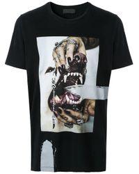 RH45 T-Shirt mit grafischem Print in Black für Herren