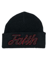 Bonnet à logo brodé Faith Connexion pour homme en coloris Black