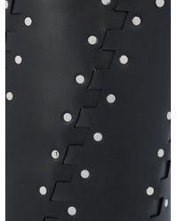 Proenza Schouler Black Medium Studded Hex Bucket Bag