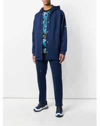 KENZO Blue Hooded Jacket for men