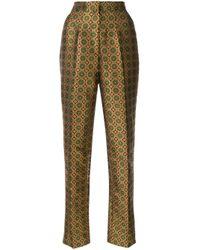 Pantalon Maxima Saloni en coloris Metallic