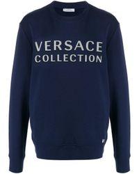 メンズ Versace ロゴ スウェットシャツ Blue
