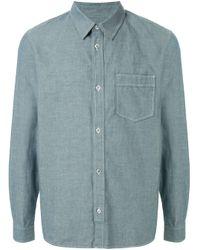 Camisa Pond con costuras en contraste A.P.C. de hombre de color Blue