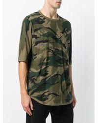 Maharishi Green Camouflage Print T-shirt for men