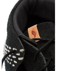 メンズ Visvim Fbt Lhamo Sashiko ブーツ Black