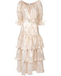 Alice McCALL フローラル ドレス Metallic