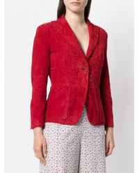 L'Autre Chose Red Classic Single-breasted Blazer