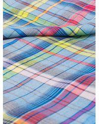 Foulard à motif tartan Etro pour homme en coloris Blue