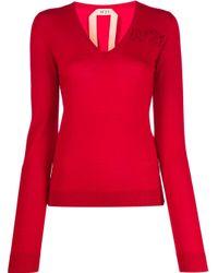 N°21 Vネック セーター Red