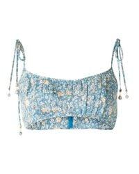Бюстгальтер-бралетт Carnaby С Цветочным Принтом Zimmermann, цвет: Blue