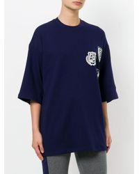 PUMA Blue Boxy Logo Crest T-shirt