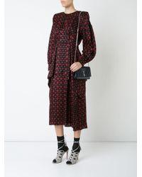 Fendi Black Mini Dot Com Shoulder Bag