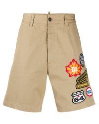DSquared² Chino-Shorts mit Logo in Natural für Herren