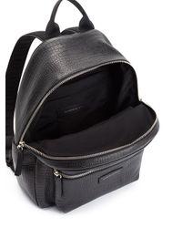 Giuseppe Zanotti Black Bud Croc-effect Backpack for men