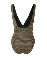 Suboo Metallic Nadia Striped Swimsuit