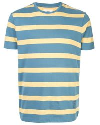 メンズ Kent & Curwen ストライプ Tシャツ Blue