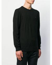 メンズ Emporio Armani ロゴ セーター Black