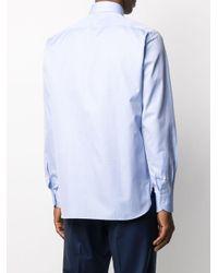 Строгая Рубашка С Длинными Рукавами Ermenegildo Zegna для него, цвет: Blue