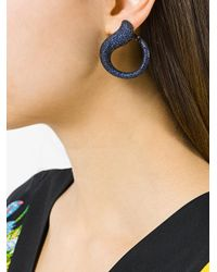 Gemco - Blue Curve Drop Earrings - Lyst