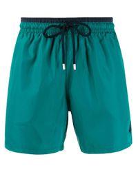 Vilebrequin Green Striped Waistband Swim Shorts for men