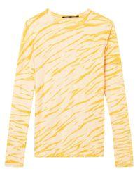 Футболка С Длинными Рукавами И Анималистичным Принтом Proenza Schouler, цвет: Yellow