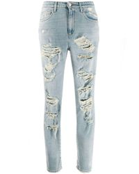 Jeans slim con effetto vissuto di Redemption in Blue
