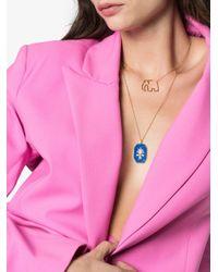 Yvonne Léon エレファント ダイヤモンド ネックレス 18kイエローゴールド Metallic