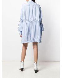 Vestido camisero oversize con motivo de raya diplomática Unravel Project de color Blue