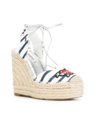 Karl Lagerfeld - White Kamini Hi Karl The Sailor Sandals - Lyst