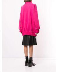 we11done オーバーサイズ モックネック スウェットシャツ Pink