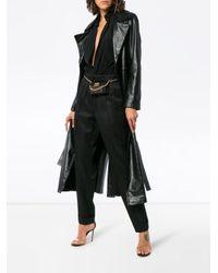 Pantalones slim de talle alto Helmut Lang de color Black