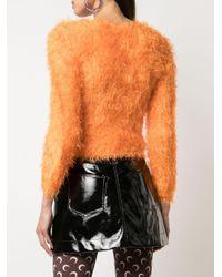 MARINE SERRE テクスチャード セーター Orange