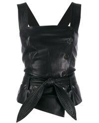 Top con cintura Asya di Nanushka in Black