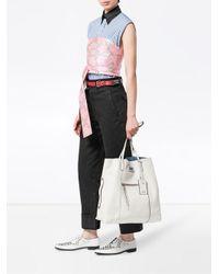 Prada White 'Etiquette' Handtasche