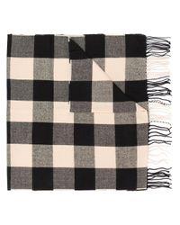 Woolrich チェック スカーフ Black